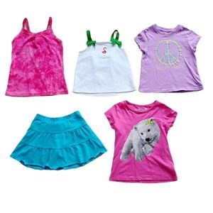 Lot of Girl's Tank Tops T-Shirts & Skort Size 3T
